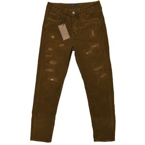 Zara Man Recover Corduroy Distressed Pants NWT